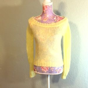 Old Navy Yellow Soft Perfect Fit Sheer Sweater